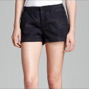 Rag & Bone Black Camo Cotton Shorts Size 26